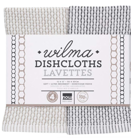 Dishcloth Wilma Slate (Set 4)
