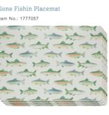 Cork Placemats Gone Fishin