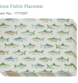 Cork Placemats Gone Fishin
