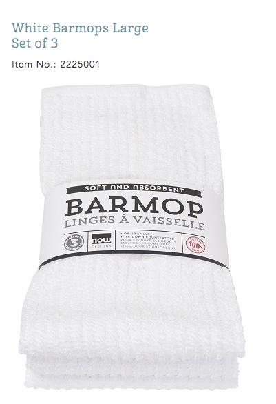 Barmop White Towel