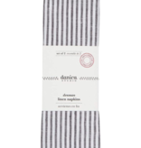 Black & White Stripe Linen Napkins (Set 2) 20 x 20inches