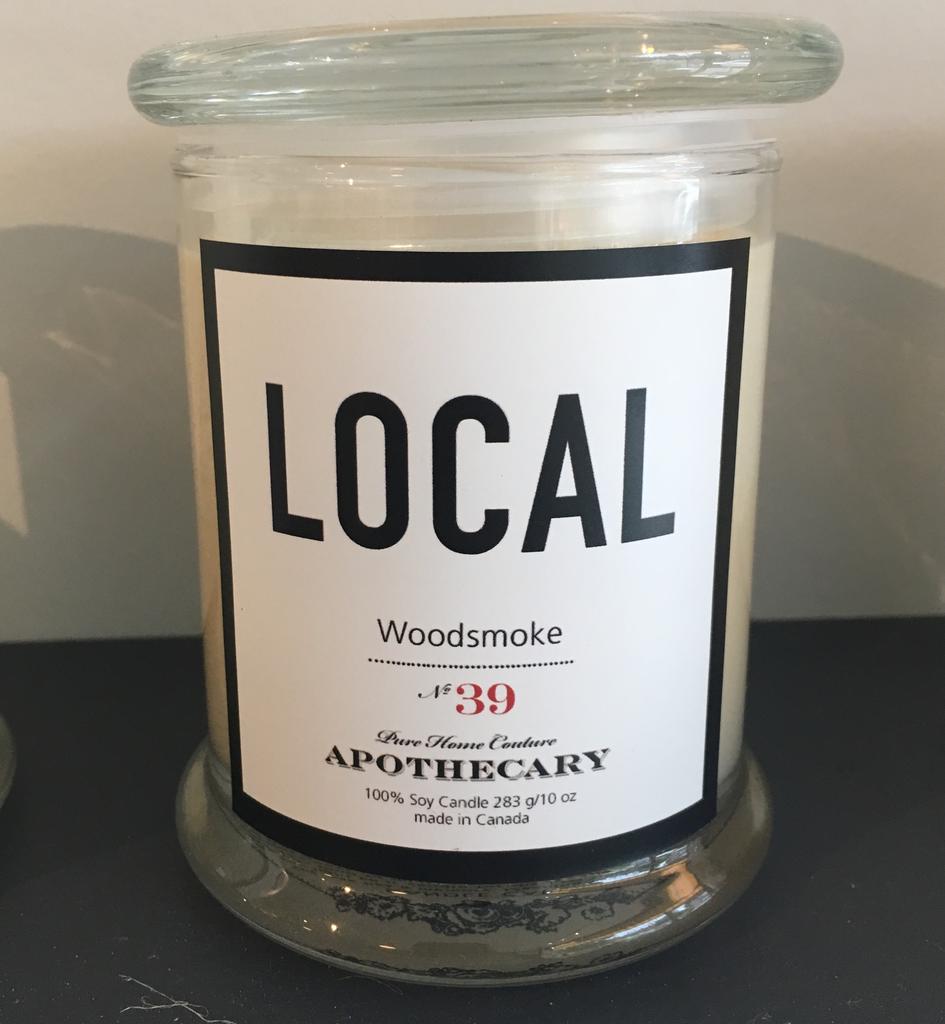 Local Candle Woodsmoke / 270 g / 50 hours