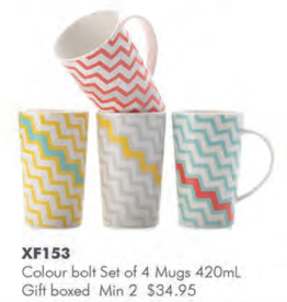 Mugs - Colour Bolt (Set 4)