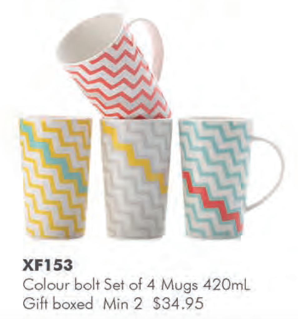 Mugs - Colour Bolt (Set 4)