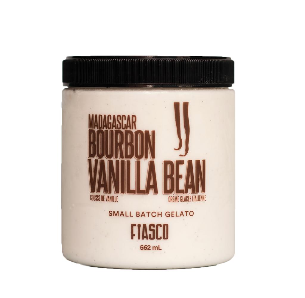 Fiasco Madagascar Bourbon Vanilla Bean Small Batch Gelato (562 ml) STORE PICK UP ONLY