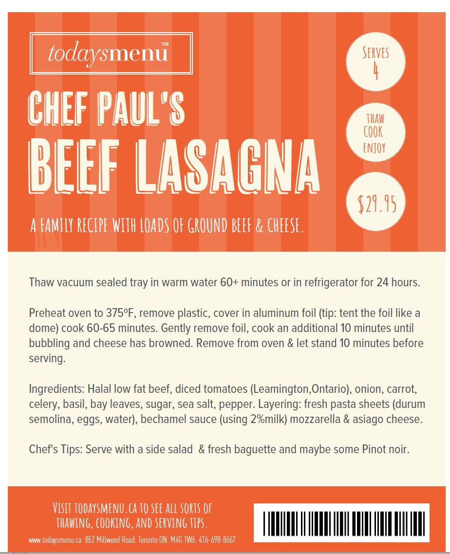 Chef Paul's Beef Lasagna (4)