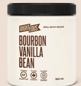 Righteous Madagascar Bourbon Vanilla Bean  Gelato (562 ml) STORE PICK UP ONLY