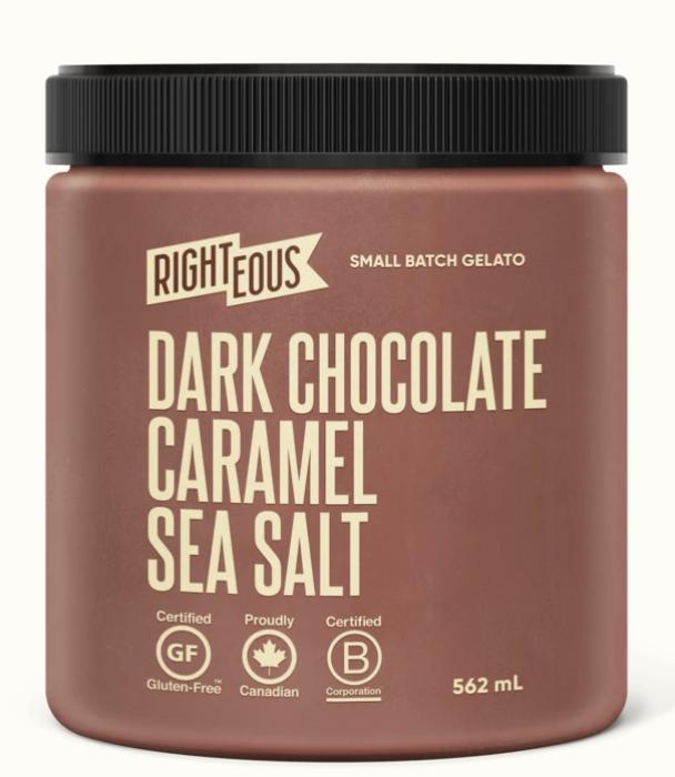 Righteous  Dark Chocolate Carmamel Sea Salt(562ml)STORE PICK UP ONLY