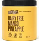 Righteous Mango Pineapple Dairy Free Sorbetto (562 ml) STORE PICK UP ONLY