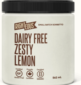 Righteous Zesty Lemon Dairy Free  Sorbetto (562ml)STORE PICK UP ONLY