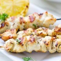 NEW!Mediterranean Chicken Kebabs