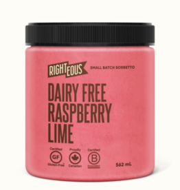 Righteous Raspberry-Lime Dairy Free Dairy Free Sorbetto (562 ml)STORE PICK UP ONLY
