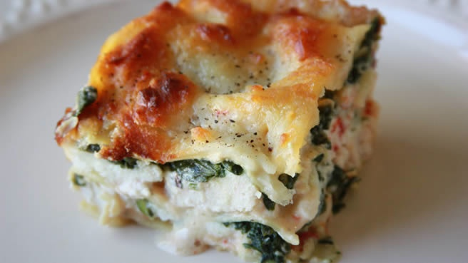 Chicken Spinach White Lasagna (2)