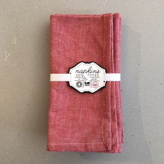 Napkins Red (set 4)