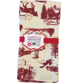 Napkins Holiday Toile Red (set 4)