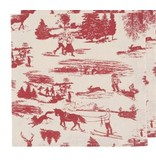 Cork-Backed Holiday Toile Coasters (set 4)