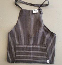Apron Grey pinstripe