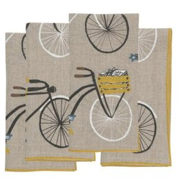 Napkins Bicycle Linen Napkins (4)