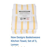Basketweave Yellow Dishtowels