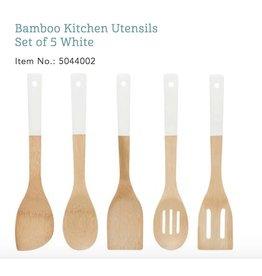 Bamboo Utensils - white