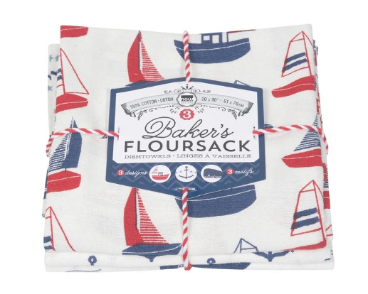 Floursack Dishtowels Whale (set 3)