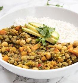 7 Vegetable Lentil Curry Dinner (Serves 1)