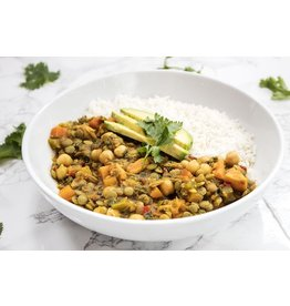 7 Vegetable Lentil Curry Vegetarian Dinner (Serves 1)