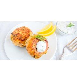 Salmon Cake Dinner (Serves 1)