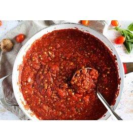 Lentil Veggie Bolognese DInner (Serves 4)