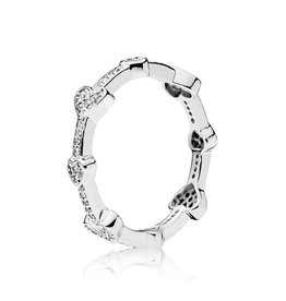 Pandora Alluring Hearts Ring, Clear CZ