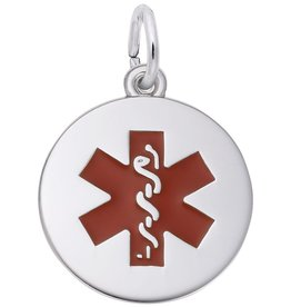 Medical Symbol with Red Enamel