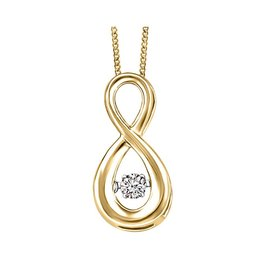 Yellow Gold (0.06tw) Dancing Canadian Diamond Pendant