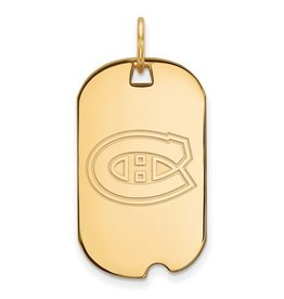 Montreal Canadiens Dog Tag Sterling Silver GP