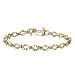 Yellow & White Gold (0.42ct) Diamond Bracelet