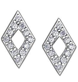 Diamond Geometric (0.12ct) White Gold Earrings