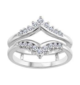 White Gold Diamond Ring Jacket (0.35tw)