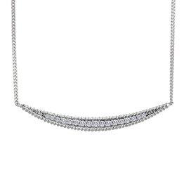 White Gold (0.085cttw) Diamond Necklace