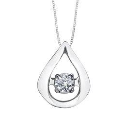 Forever Jewellery White Gold (0.02cttw) Dancing Diamond Pendant
