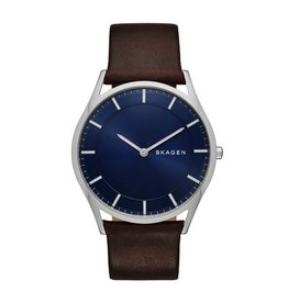 Skagen Holst Slim Dark Brown Leather Watch