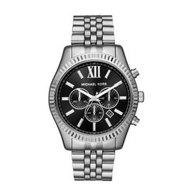 Michael Kors Lexington Steel Strap Black Face