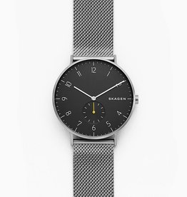 Skagen Aaren Dark Gray Steel-Mesh Watch