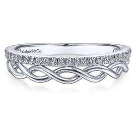 Gabriel & Co 14k White Gold Fashion Ladies Ring