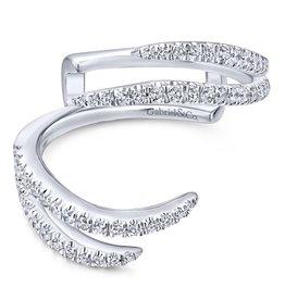 14k White Gold Pavee Set Diamond Enhancer