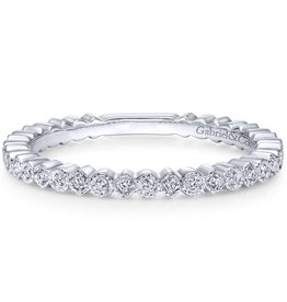Gabriel & Co 14k White Gold Stackable Ladies Ring