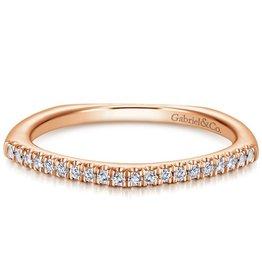 Gabriel & Co 14k Rose Gold Fashion Ladies Ring