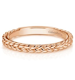 Gabriel & Co 14k Rose Gold Braided Stackable Ring
