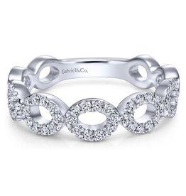 Gabriel & Co 14k White Gold Diamond Stackable Ring