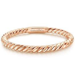 Gabriel & Co 14K Rose Gold Stackable Ladies Ring