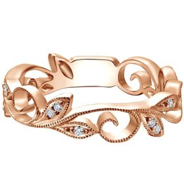 Gabriel & Co 14k Rose Gold Diamond Stackable Ring