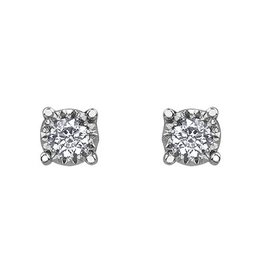 Illuminaire Diamond Studs (0.20ct ) White Gold